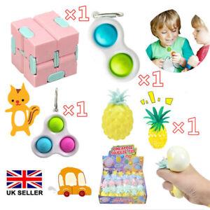 4× Figet Fidget Toys Set Sensory Tools Bundle Stress Relief Hand Toy Kids Adult
