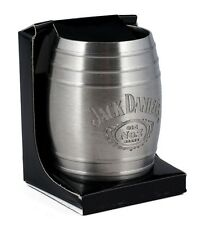 Licensed Jack Daniel's Whiskey Medium Barrel Shot Glass Swing Cartouche Logo 2oz