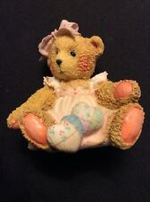 """New 1992 Cherished Teddies Amy.""""Hearts Quilted With Love"""" Heart Pillows #910732"""