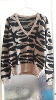 Maglione donna leopardato taglia unica