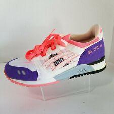 VTG 1990 Asics Gel Lyte III 3 Womens White Pink Purple TN68 Running Size 7.5