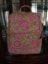 Vera Bradley Petal Pink Backpack Floral Pink Green White Adjustable Straps