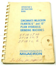 CINCINNATI GRINDING MACHINES OPERATOR'S INSTRUCTION BOOK  (W-4-BOX 9-13-RCT)