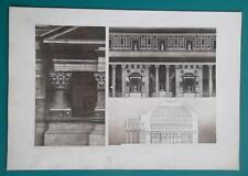 PANTHEON ROME Interior Elevations & Section - 1905 Espouy Heliogravure Print