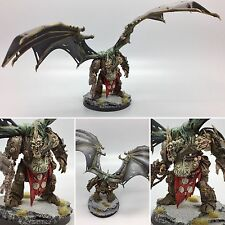 WARHAMMER 40,000 40K CHAOS NURGLE DAEMON PRINCE CONVERTED WINGS PAINTED & BASED