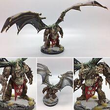 WARHAMMER 40,000 40K Caos Nurgle Daemon Prince convertito ALI DIPINTO & in base