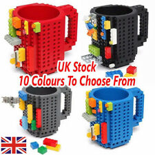 DIY Creative Puzzle Bricks Mug Build On Blocks Coffee Tea Cup Gift For Lego Fans