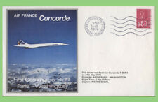 France 1976 Air France, Concorde First Commercial Flight Paris-Washington cover