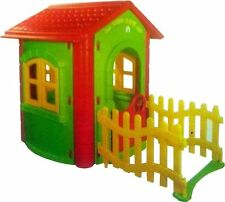 Casa Casetta Magica per bambini con recinto ingresso in PVC Cm. 112 x 172 x 131