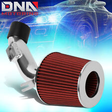 FOR 2006-2011 HONDA CIVIC DX LX HIGH FLOW SHORT RAM AIR INTAKE SYSTEM+RED FILTER
