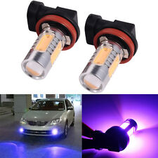 2x Xenon Purple H8 H11 High Power COB LED Projector Bulb Car Driving Fog Light