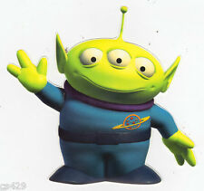 """4.5"""" DISNEY TOY STORY ALIEN  WALL SAFE STICKER CHARACTER  BORDER CUT OUT"""