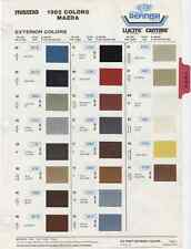 1982 82 Mazda Exterior Colors B2000 GLC RX7 626 Truck Paint Chips Chart