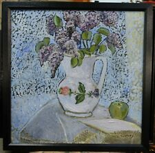 ORIGINAL OIL PAINTING DIRECT FROM ARTIST still life lilacs ,  c Zachary