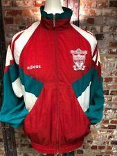 De Colección Chaqueta De Chándal Adidas Liverpool 1991/93 rojo, verde y blanco Talla Med