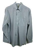 Brooks Brothers Long Sleeve Button Down Shirt Mens Size 15 Blue & White Plaid