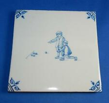 Ceramic Tile - Kids Playing Marbles - Very Unique - Holland      112617-4  DG