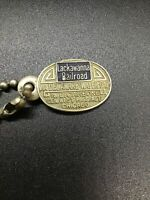 Vintage Lackawanna Railroad Brass Keychain Keys NICE!