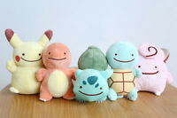 Lot of 5 POKEMON PLUSH PLUSHIES SOFT TOYS doll Pikachu Squirtle Charmeleon gift