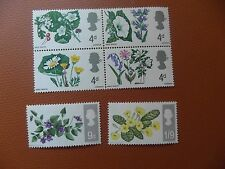Phosphors u/m Great Britain 1967 flowers.   cv £1.o5  .