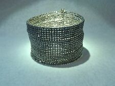 Genuine Hematite cuff bracelet memory wire/adjustable modern handmade
