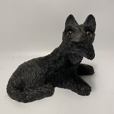 1984 Scottish Terrier Dog Statue Figurine Usa Black Universal Statuary Corp.