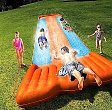 Inflatable Double Water Slide Outdoor Kids Play Backyard Pool BIG Splash Spit
