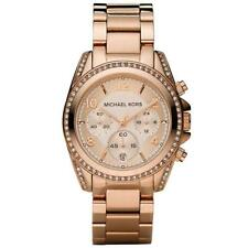 Michael Kors Blair Ladies Rose Gold Chronograph Designer Watch MK5263