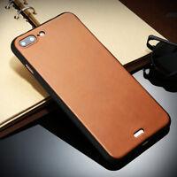 TPU de luxe Coque Étui de protection en cuir PU pour iPhone 7 / Marron