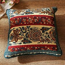 DaDa Bedding Romantic Bohemian Floral Rose Elegant Square Pillow Cushion Covers