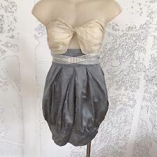 Victorian Balloon Style Silk Party Dress - Size 8-10