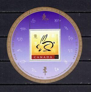 CANADA - 1999 YEAR OF THE RABBIT - SOUVENIR SHEET - SCOTT 1768 - MNH