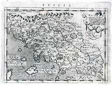 Antique map, Tuscia