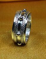 Vintage Antique Fine Sterling Silver Band Ring Size-7