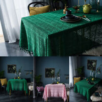 New Hollow Crochet Dinner Table Cloth Cover Tablecloths Kitchen Home Party Decor