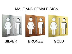 Unisex Male and Female Bathroom Sign - WC Toilet Pictogramm - Restroom Symbol