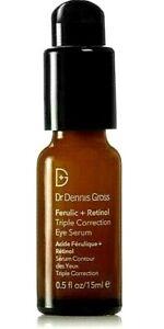 Dr. Dennis Gross Ferulic + Retinol Triple Correction Eye Serum 0.5 OZ FULL SIZE!