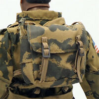1/6 Scale Uniforms Coveralls Suit BackPack woodland camo bag for Action Figure