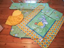 Reversible 8 Piece Baby's Cot Set, Bedding, Baby Looney Tunes with Bumper in VGC