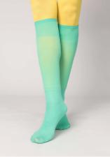 BNWT Gudrun Sjoden Oriental Green 60 Denier Knee Highs in Recycled Polyamide
