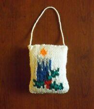 décoration de Noël bougie tricoté mains