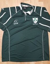 Men's Large Green Live For Rugby Jersey LFR IRELAND Irish Rugby Polo Shirt EUC