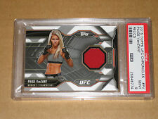 $✨$ 2015 TOPPS UFC CHRONICLES MMA PAIGE VANZANT PSA 9 WORN GEAR RELIC PATCH CARD