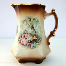 Vintage Staffordshire Pottery Jug Romantic Scene Courting Couples