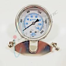 4 Pulgadas de 0 a 200 PSI presión PEM225LF Calibrador de invierno