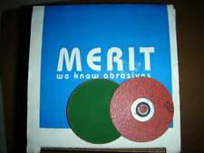 """New listing Merit 67071 PowerLock R801 2"""" 120 Grit Zircplus Type S Discs 100ea./box Nos!"""