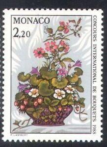 MONACO #1591 MNH VF OG Concours International de Bouquets Flower Show 1987