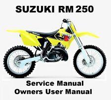 SUZUKI RM250 RM 250 Motocross Owners Workshop Service Repair Manual PDF on CD-R