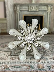 Vintage Miniature Dollhouse Artisan Made Crystal Rhinestone OOAK Chandelier UK