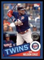 2020 Topps Series 2 1985 Blue #85TB-24 Nelson Cruz - Minnesota Twins